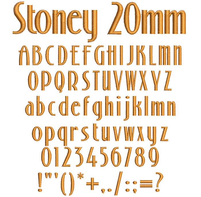 Stoney 20mm Font 1