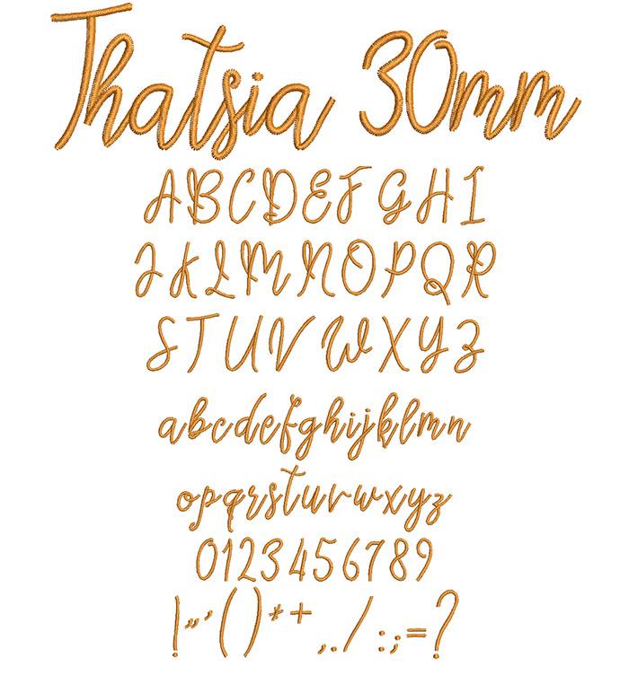 Thatsia 30mm Font 1