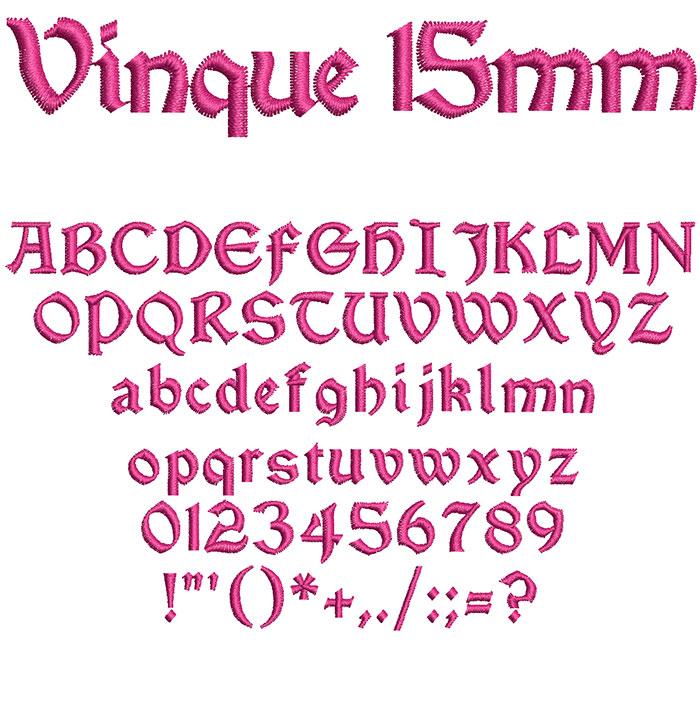 Vinque 15mm Font 1