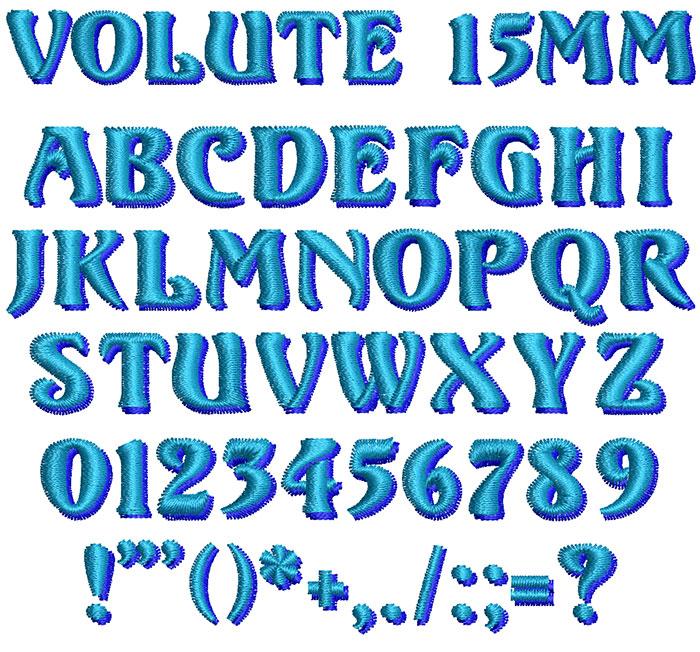 Volute 2 color 15mm Font 1