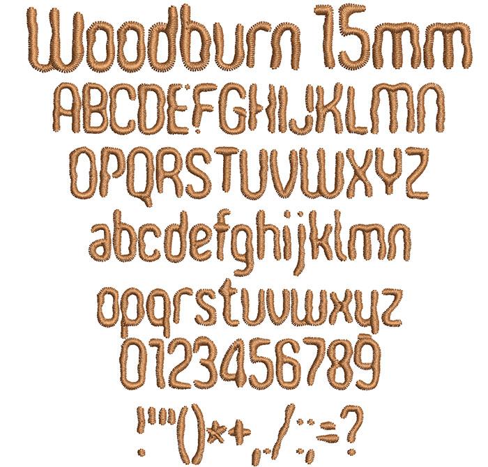 Woodburn 15mm Font 1