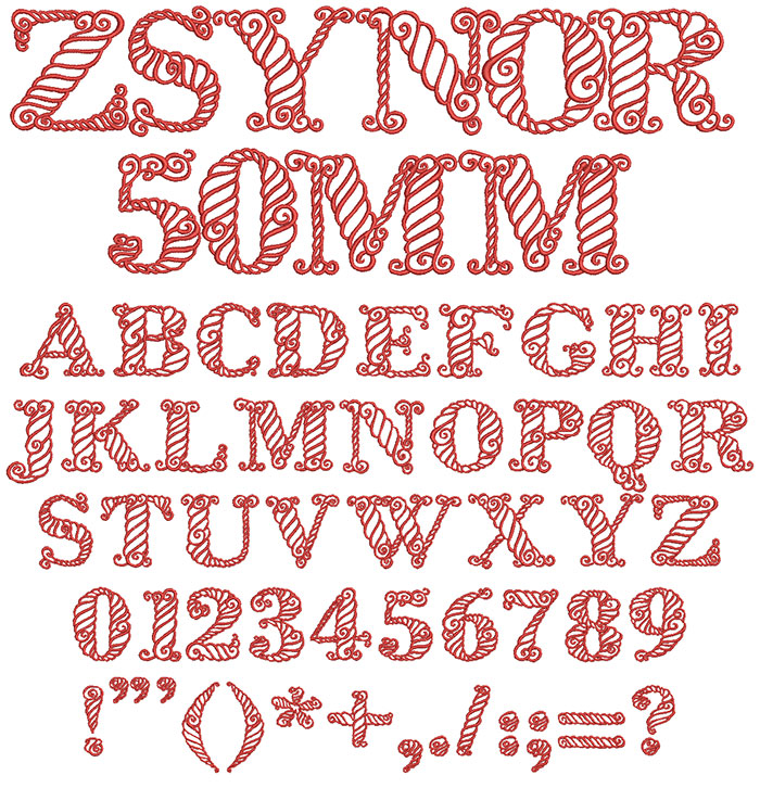 Zsynor 50mm Font 1