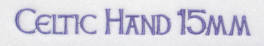 Celtic Hand 15mm Font 2