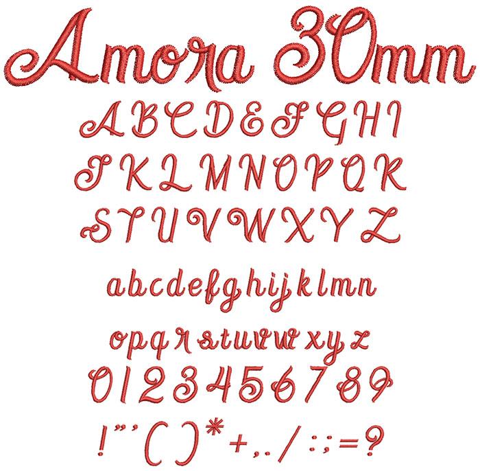 Amora 30mm Font
