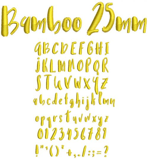 Bamboo 25mm Font