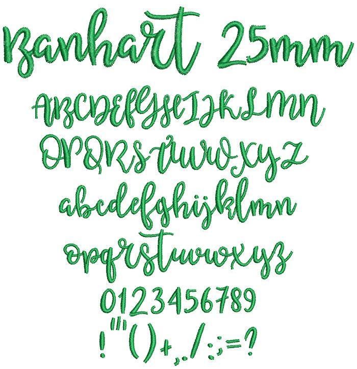 Banhart 25mm Font