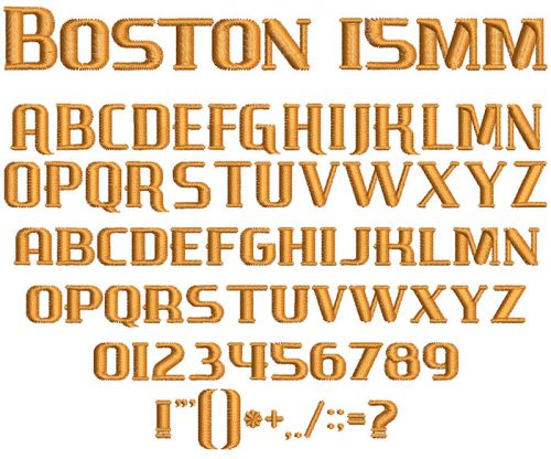 Boston 15mm Font