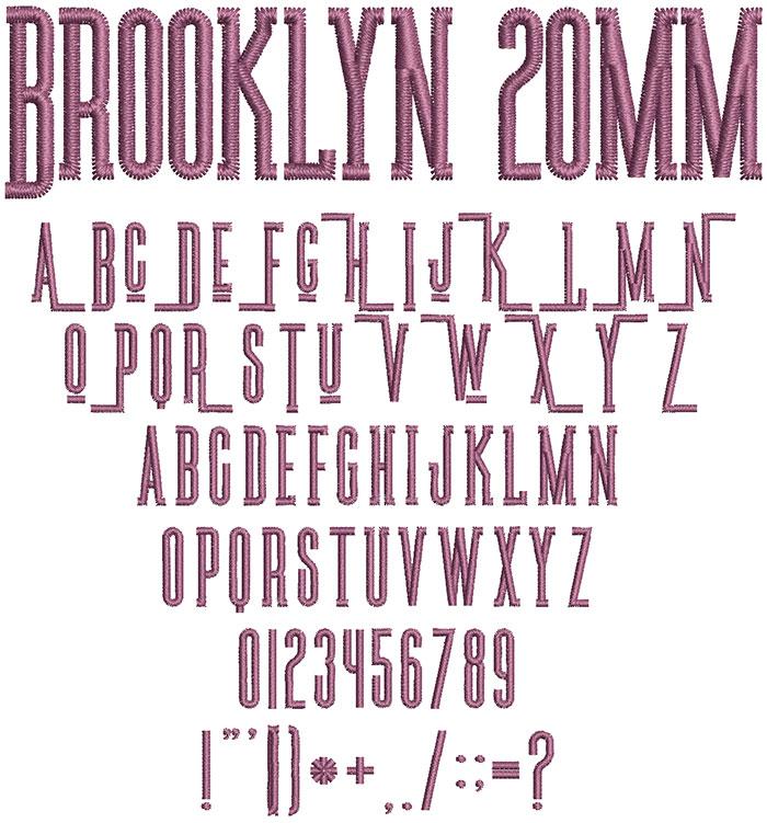 Brooklyn 20mm Font
