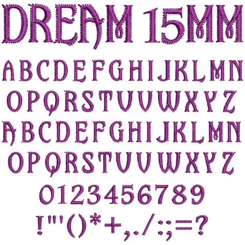 Dream 15mm Font