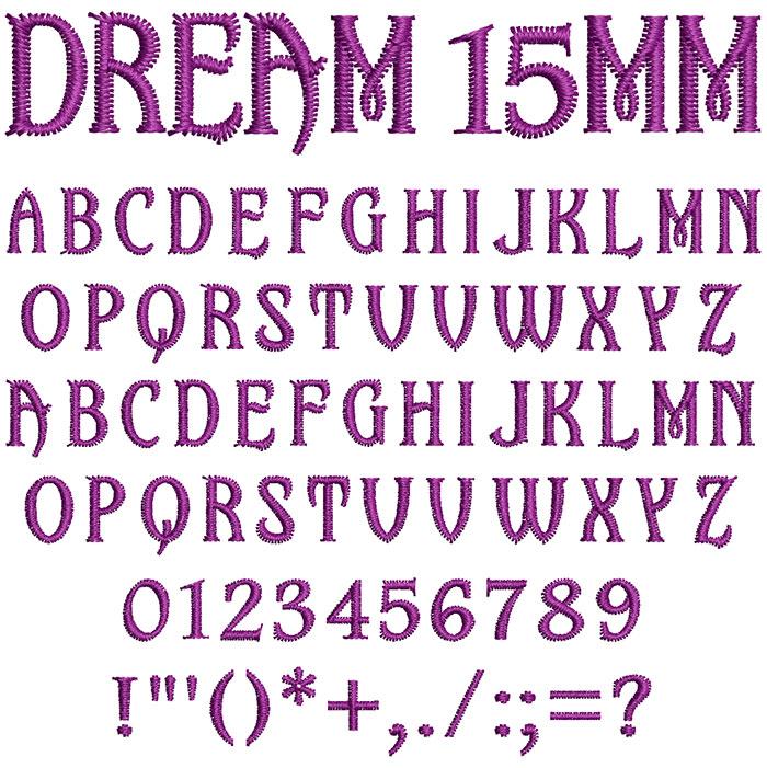 Dream 15mm Font