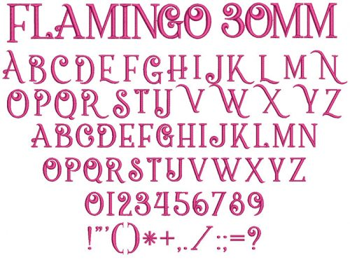 Flamingo 30mm Font