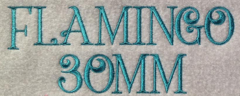 Flamingo esa font sew out