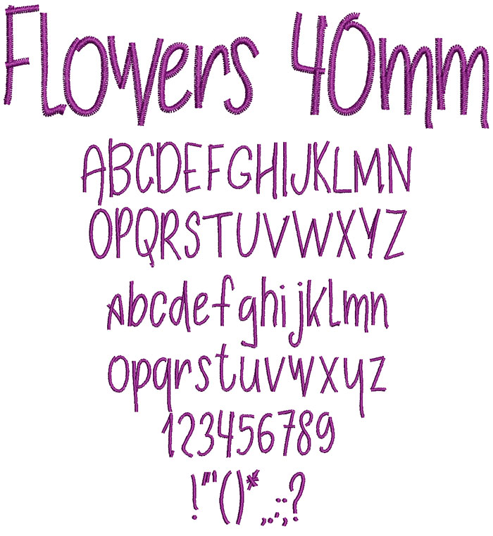 Flowers 40mm Font