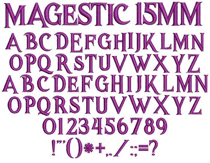 Magestic 15mm Font