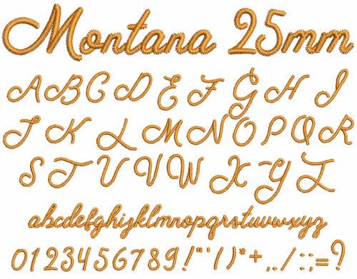 Montana 25mm Font