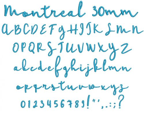 Montreal 30mm Font
