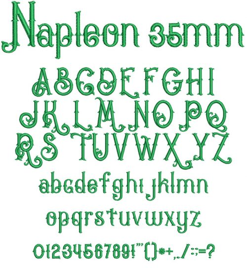 Napleon 35mm Font