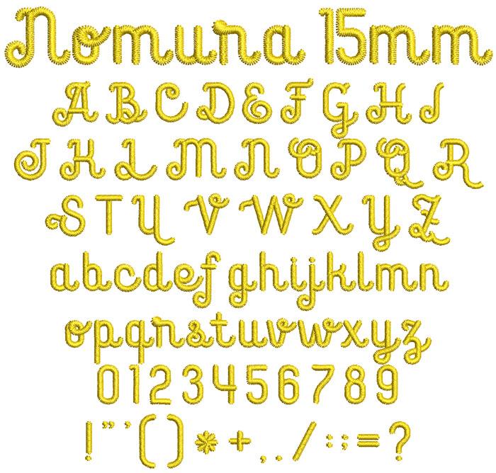 Nomura 15mm Font