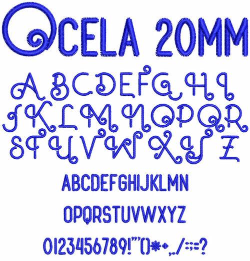 Ocela 20mm Font