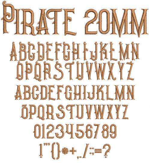 Pirate 20mm Font