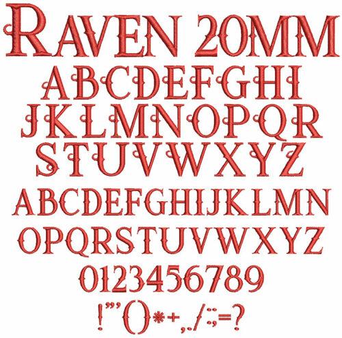Raven 20mm Font