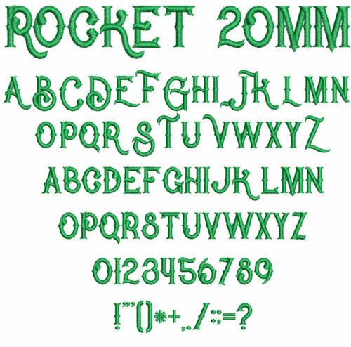 Rocket 20mm Font