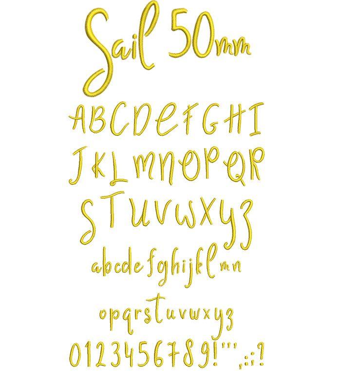 Sail 50mm Font