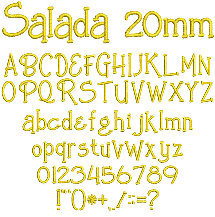 Salada 20mm Font