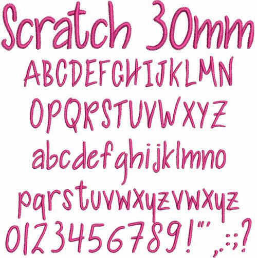 Scratch 30mm Font