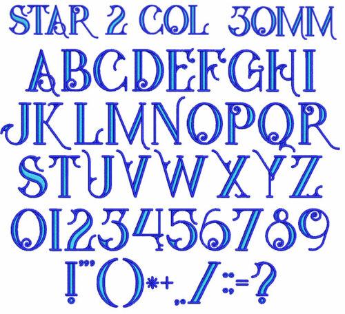Star 2 Color 30mm Font