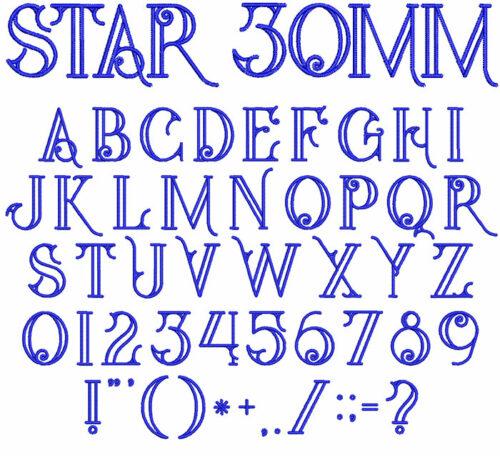 Star 30mm Font