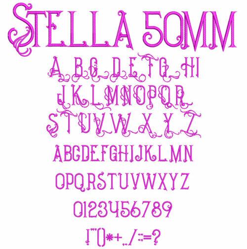 Stella 50mm Font
