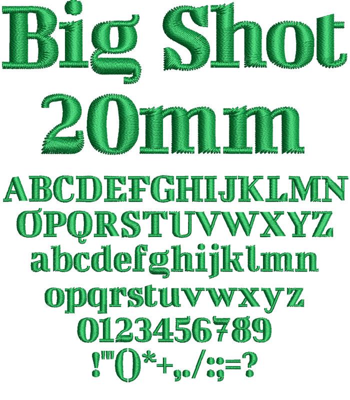Big Shot 20mm Font