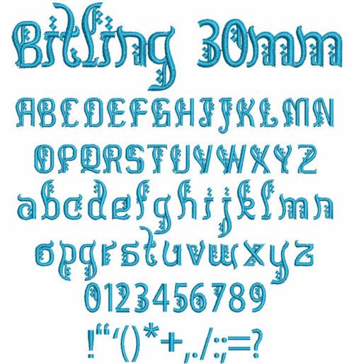 Bitling 30mm Font