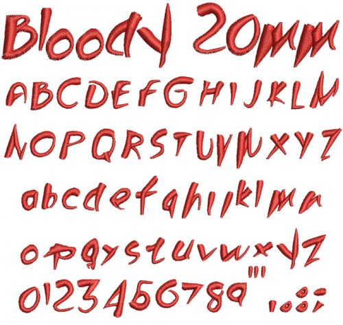 Bloody 20mm Font
