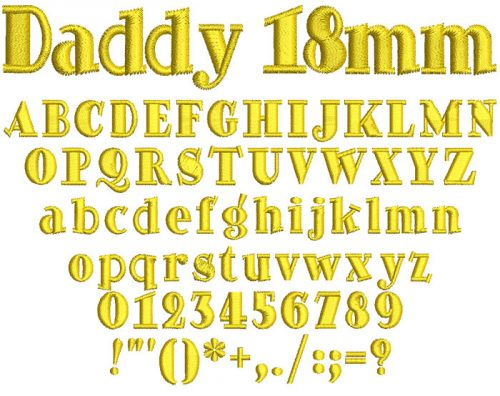 Daddy 18mm Font