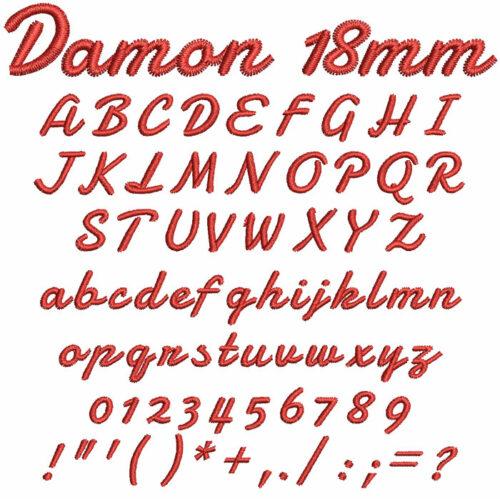 Damon 18mm Font