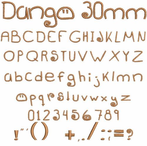 Dango 30mm Font