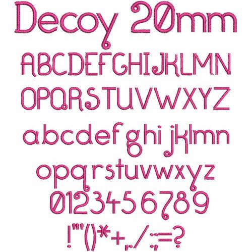 Decoy 20mm Font