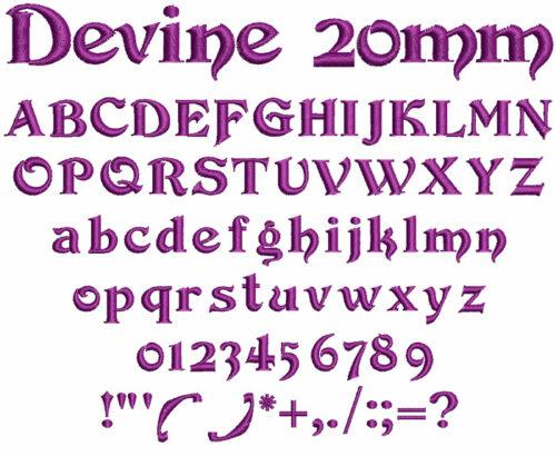 Devine 20mm Font
