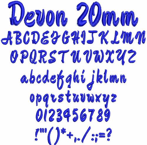 Devon 20mm Font