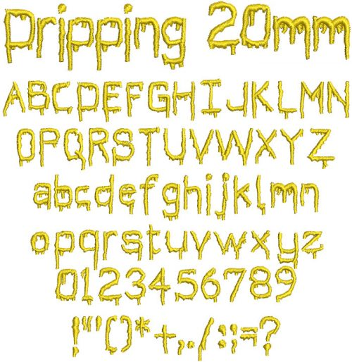 Dripping 20mm Font