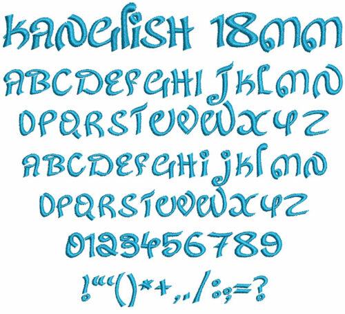 Kanglish 18mm Font