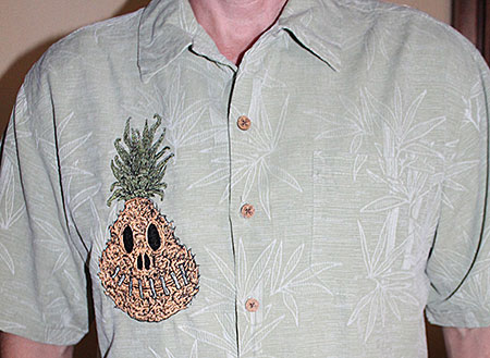 Pineapple shrunken head shirt