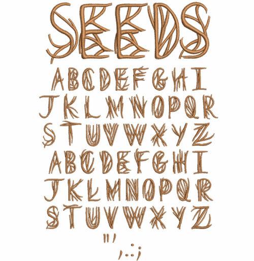 Seeds 30mm Font