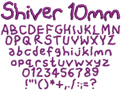 Shiver 10mm Font
