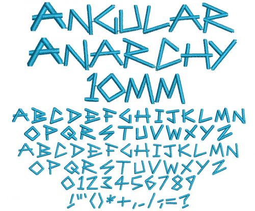 Angular Anarchy 10mm Font