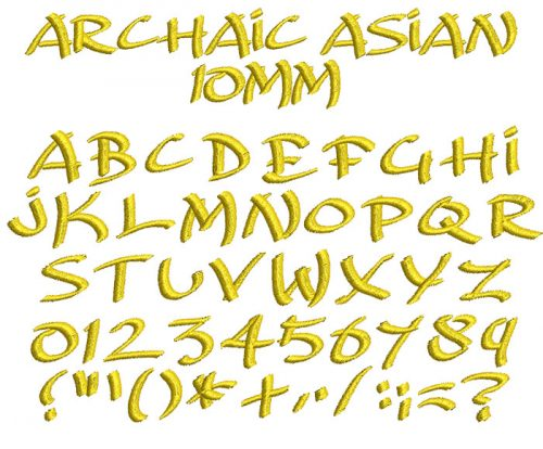 Archaic Asian 10mm Font