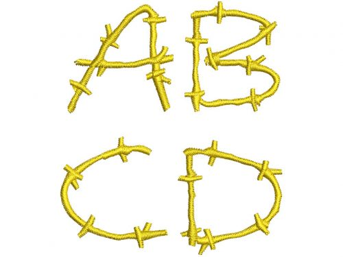 Barbed Wires esa font letters icon