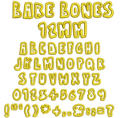 Bare Bones 12mm Font